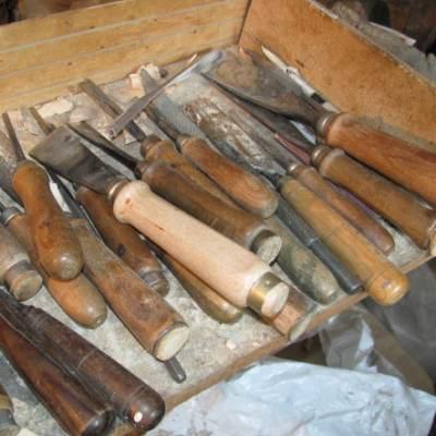 Utensili scultura legno
