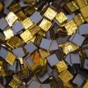 Tessere specchio colorato per mosaico - Oro pallido  1,5x1,5 Cm.