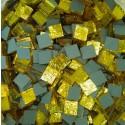 Tessere specchio colorato per mosaico - Limone  1,5x1,5 Cm.