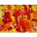Mix n. 11 Rosso-giallo tessere in vetro colorato per mosaico