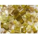 Mix n. 6 Verde-marrone tessere in vetro colorato per mosaico