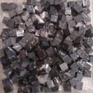 Tessere per mosaico nero marquina 1x1x1 cm. Tranciato