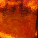 Vetro cattedrale antico Rosso arancio selenio