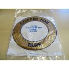 Nastro di rame adesivo 5,7 mm (rame-nero) per tiffany