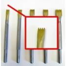 Gradina in widia da 10 mm.con 4 denti attacco 12,5