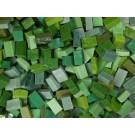 Verde medio-scuro Tessere smalti per mosaico miscela  n.13
