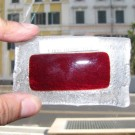 Vetro di Murano - Rosso fusione lastra 80x65 Cm.