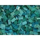 Acqua di mare scuro Tessere smalti per mosaico miscela  n.10