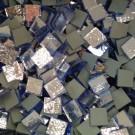 Tessere specchio colorato per mosaico - Blu pallido  1,5x1,5 Cm.