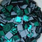 Tessere specchio colorato per mosaico - Verde 2x2 Cm.