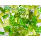 Mix n. 4 Verde erba tessere in vetro colorato per mosaico
