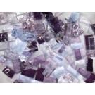 Mix n. 8 Viola tessere in vetro colorato per mosaico