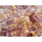 Mix n. 9 Rosa tessere in vetro colorato per mosaico