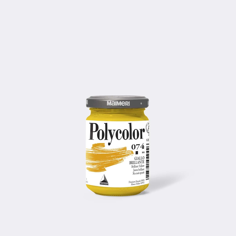 Colore acrilico Polycolor 074 Giallo brillante 140 Ml.