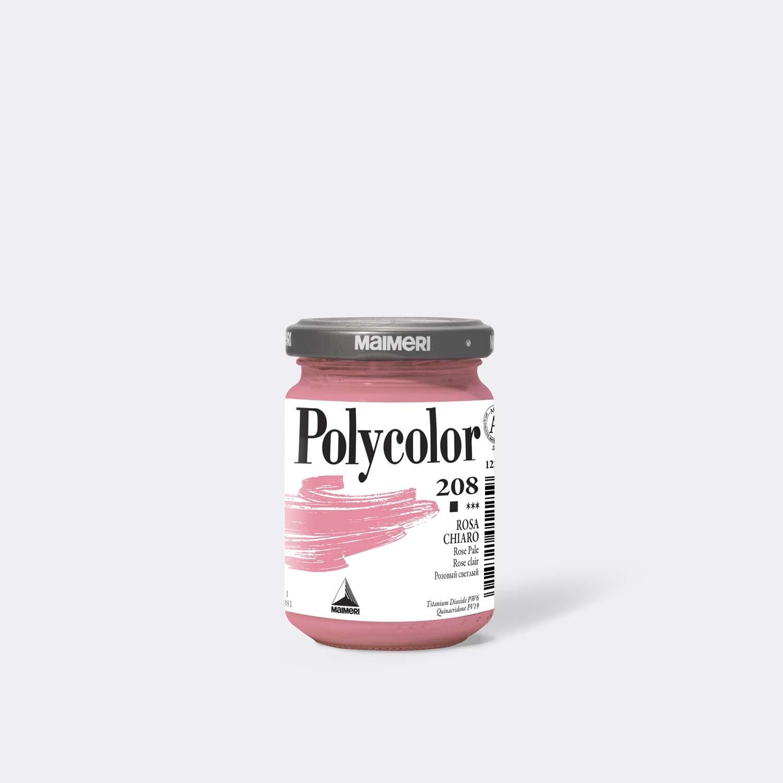 Colore acrilico Polycolor 208 Rosa chiaro 140 Ml.