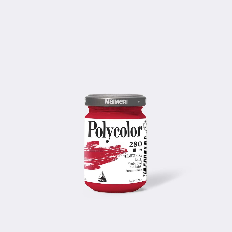 Colore acrilico Polycolor Vermiglione imitazione 140 Ml.