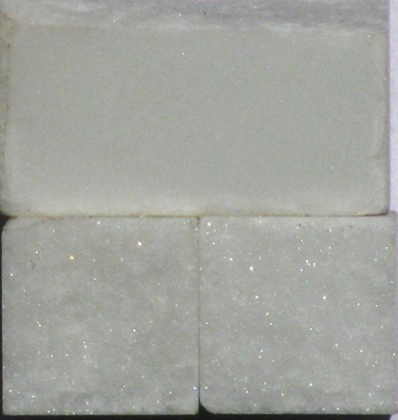 Tessere per mosaico  Acquabianca kg.1
