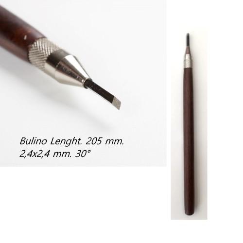 Bulino 2,4 x 2,4 mm. inclinazione a 30° Losanga
