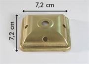 Calotta quadrata ottone per lampada tiffany 7,2 cm.