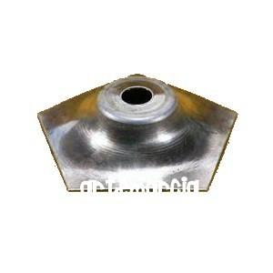Calotta pentagonale in ottone per lampada tiffany 5,5 cm.