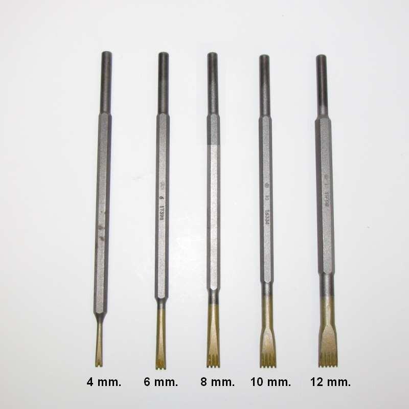 Gradina in widia da 6 mm.con 3 denti attacco 7,5