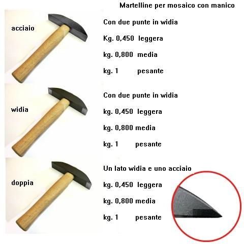 Martellina leggera in widia Kg. 0,450