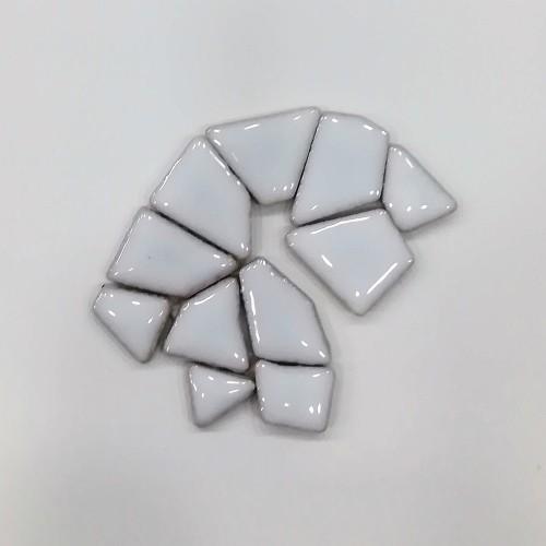 Tessere irregolari ceramica smaltata - Bianco