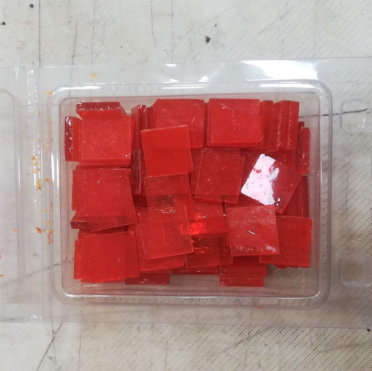 Tessere in vetro colorato per mosaico Rosso trasparente
