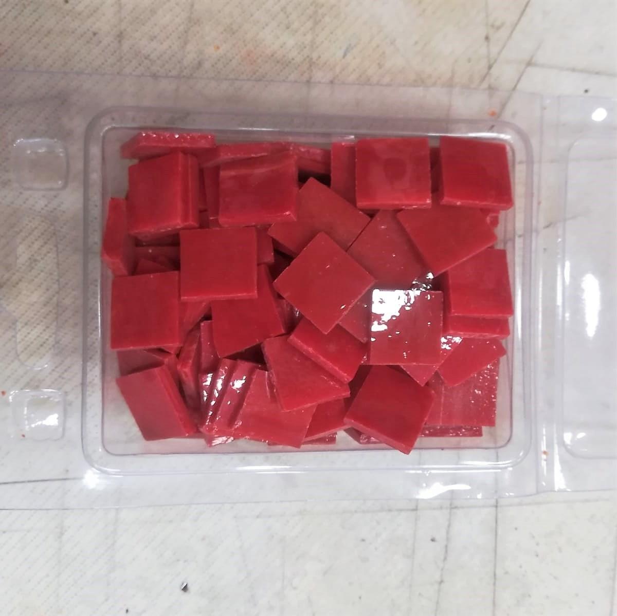 Tessere in vetro colorato per mosaico Rosso