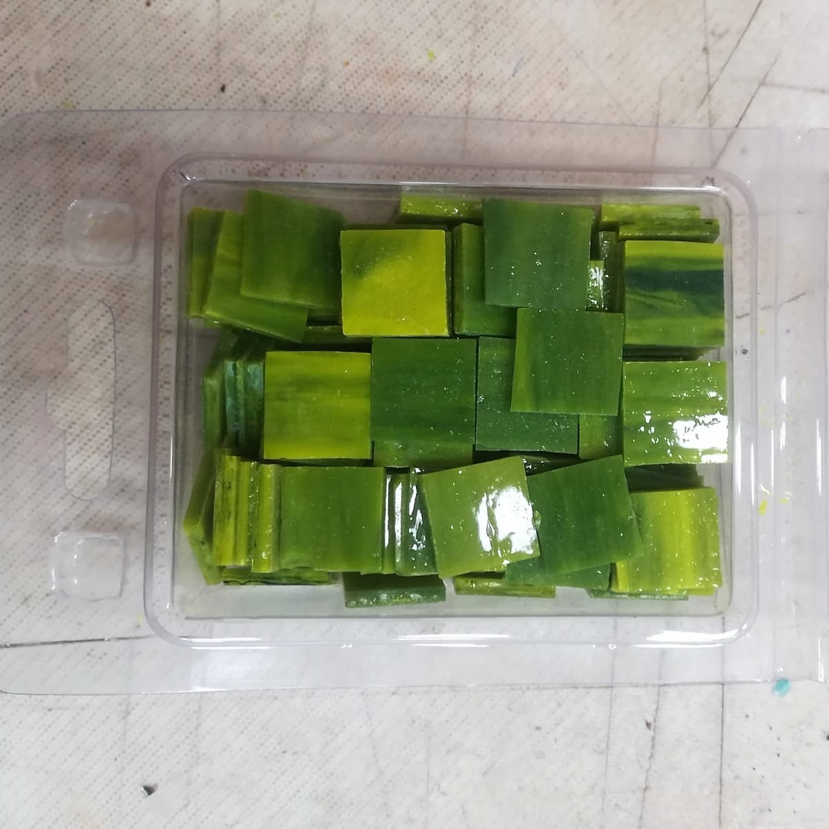 Tessere in vetro colorato per mosaico Verde scuro