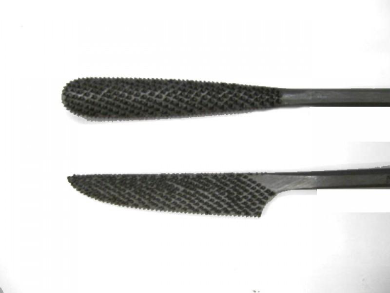 Raspa in acciaio temperato e lavorata a mano, forma cod.  660