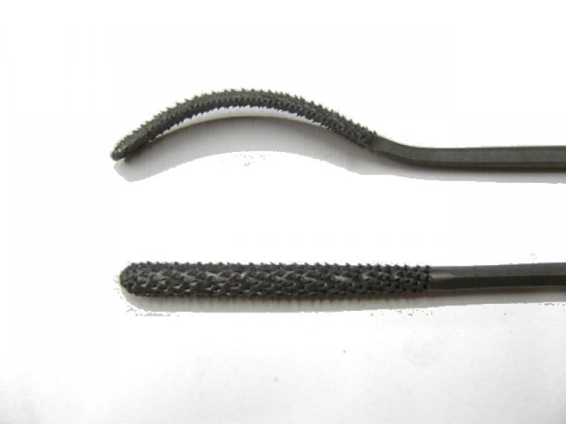 Raspa in acciaio temperato e lavorata a mano, forma cod.  666
