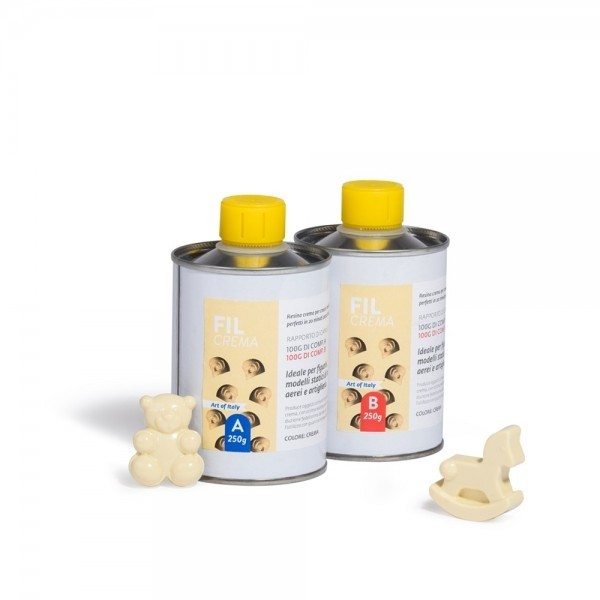 Resina poliuretanica 1:1 color crema gr. 250