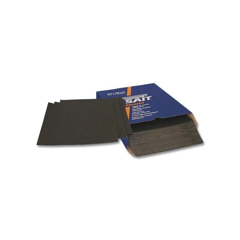 Fogli di carta abrasiva Sait 23x28 cm. gr. 80
