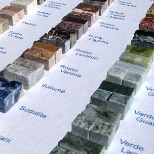 Campionario tessere per mosaico in pietra