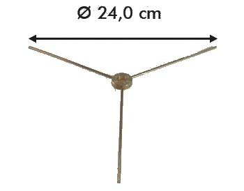 Spider a tre braccia per lampada tiffany 24 cm.