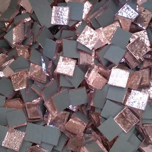 Tessere specchio colorato per mosaico - Rosè  1,5x1,5 Cm.