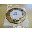 Nastro di rame adesivo 5,2 mm (rame-nero) per tiffany