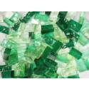 Mix n. 5 Verde tessere in vetro colorato per mosaico