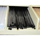 Bacchette di vetro Murano - Nero assoluto pastello