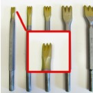 Gradina in widia da 10 mm.con 3 denti attacco 12,5