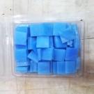 Tessere in vetro colorato per mosaico Azzurro Caraibi