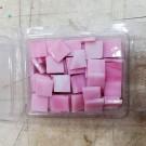 Tessere in vetro colorato per mosaico Rosa