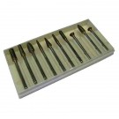 Frese sinterizzate gambo 3 mm. Set di 10