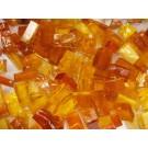 Mix n. 10 Ambra tessere in vetro colorato per mosaico