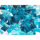 Mix n. 3 Acquamarina tessere in vetro colorato per mosaico